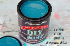 DIY non toxic chalk type paint comes in three sizes, 8 oz sample jar, perfect for a small project like a chair or small side table. 16 oz pint usually more than enough to complete a good size piece of