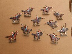 flats, Napoleonic Dutch Red Lancers cavalry on horse painted Zinnfiguren, FG  | eBay