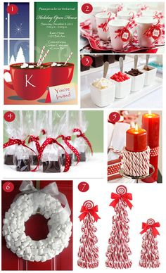 Hot Chocolate & Peppermint Holiday Party Ideas