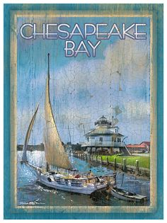 Lithograph+on+Paper+[1261CHESAPEAKEBAY-P]+-+$39.00+:+My+Town+Art,+The+Art+of+Patrick+Reid+O'Brien