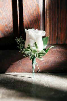 Emily Wren; Moonlight Pennsylvania Wedding Under a Sparkling Tree at Aldie Mansion from Emily Wren. - boutonniere