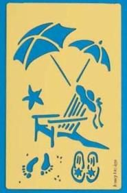 beach stencils - Google Search