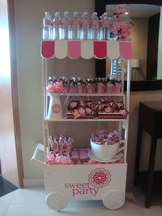 Candy cart love the big cup and saucer