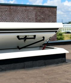 Why should you choose a roof access hatch? Here you will find more information and the advantages of a roof hatch as a safe way to access a flat roof. Roof Access Hatch, Roof Hatch, Roof Window, Rooftop Terrace, Flat Roof, Windows, Window, Roof Terraces, Rooftop Deck