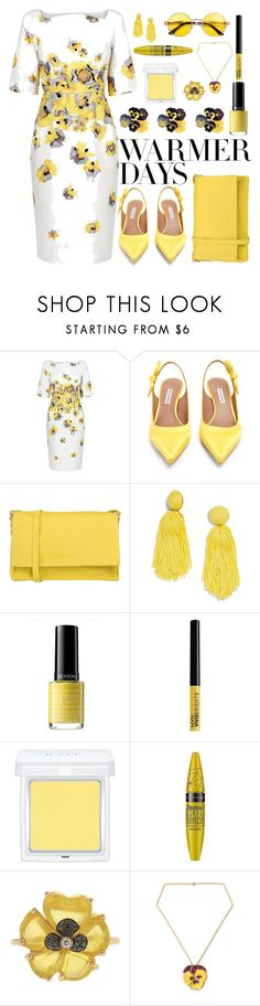 """""""Spring Dresses"""" by marionmeyer ❤ liked on Polyvore featuring Tabitha Simmons, Orciani, BaubleBar, Revlon, NYX, RMK, Volum, Christina Debs, NOVICA and springdresses"""