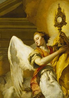 Tiepolo. Detail from Vision of St. Paschal Baylon, 1767.