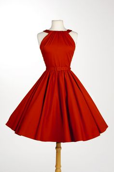 Pinup Couture Harley Dress in Red Sateen | Pinup Girl Clothing