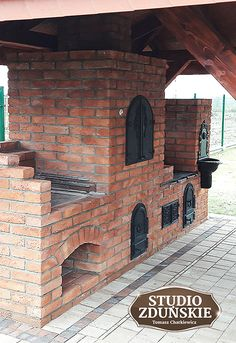 Build Outdoor Kitchen, Outdoor Kitchen Design, Backyard Seating, Backyard Bbq, Pizza Oven Outdoor, Outdoor Cooking, Diy Rocket Stove, Brick Grill, Backyard Fireplace