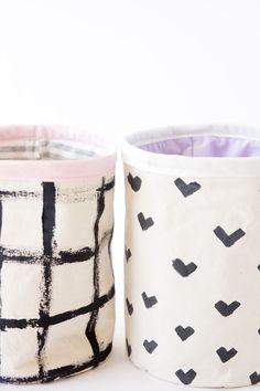 DIY Fabric Bucket Tutorial