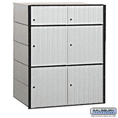 6 Door Aluminum Mailbox Standard System