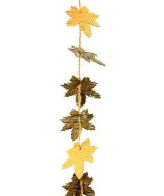 Another great find on #zulily! Artificial Birch Maple Leaf Garland, $12 !!   #zulilyfinds