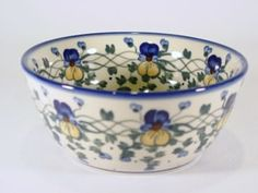 Polish Pottery   Nice...  Love the pansies