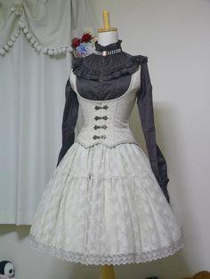 32ki:blouse and skirt: Victorian maiden vest: EXCENTRIQUE