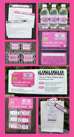 Mall Scavenger Hunt Invitation & Printable Birthday Party Collection