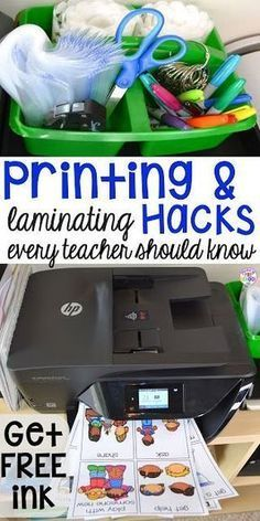 Printing and laminating hacks every teacher should know (preschool, elementary, middle school, high school). Print every thing in color and prep quickly and easily. Get FREE INK with HP Instant Ink!