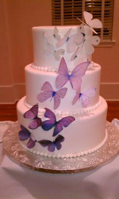 Lavendar Butterfiles Wedding Cake www.adinascakery.com Weeding, Yummy Cakes, Wedding Cakes, Wedding Ideas, Desserts, Wedding Gown Cakes, Tailgate Desserts, Grass, Deserts