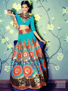 Modern twist to Indian Wedding Lengha! I totally love :)