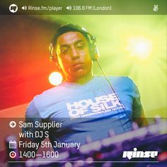 Rinse FM Podcast - Sam Supplier w/ DJ S - 6th January 2017 by Rinse FM | Free Listening on SoundCloud