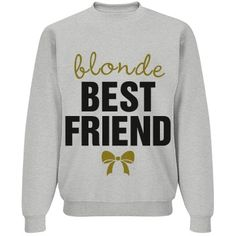 Blonde And Brunette BFF | Snap up these trendy best friend designs for you and your besties. Every brunette needs a blonde best friend. Featured on gray for that good old vintage look, but customizable with names and colors.