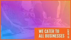 Colorful gradient advertising agency video template we cater to all busiunesses