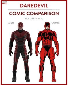 • DAREDEVIL - COMIC COMPARISON • As many of you requested like a thousand times, it's finally here.  - accurate.mcu