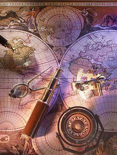 Nautical Navigation Sailcloth Print