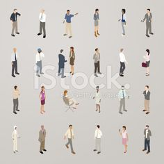 Business People - Flat Icons Illustration royalty-free stock vector art