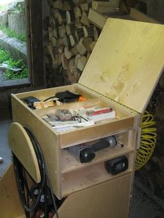 Air Compressor Cabinet Plans | WoodWorking