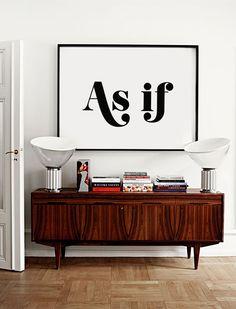 Als ob - ratlos Quote - Typografie Poster - schwarz und weiß-Art - Kunst…