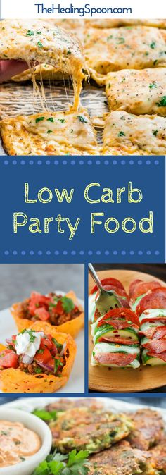 My favorite Low Carb/Keto appetizers for all your party needs. Tips for surviving all those carb laden parties and get togethers. Dairy free options included for some of the recipes.