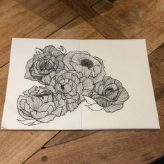 Working on lots of new designs for the shop! Hand drawn floral pen illustration.
