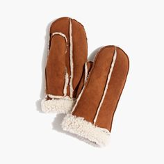 holiday gift pick: madewell & owen barry™ shearling mittens. #giftwell
