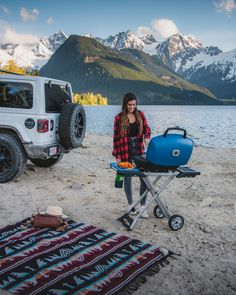 """The Napoleon TravelQ Series BBQ totally changes the game of how I will be spending my camping trips this summer! This little bad boy is easy to toss in the back of the car, rip up to your favourite BBQ spot, pull it out, unfold it AND in this case… Make some BANGIN' vegan burgsss and veggie skewers!"" - @braybraywoowoo #NapoleonMoments"
