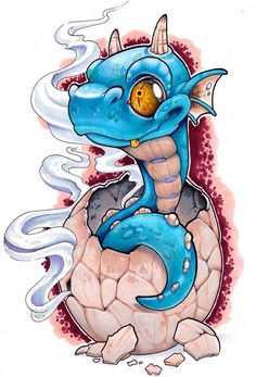 Crackin Open by XeviousTheGreat on DeviantArt – Destinations … – Graffiti World Tattoo Sketches, Tattoo Drawings, Cool Drawings, Art Sketches, Cartoon Kunst, Cartoon Art, Graffiti Art, Desenho New School, Cute Dragons