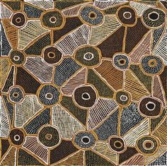 Jean Baptiste Apuatimi (1940 – 2002) Kulama-Yam, 2000 natural earth pigments on canvas 121.5 x 121.5 cm
