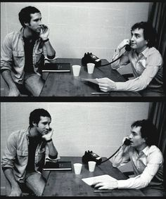 ladyballs-:  Lorne Michaels & Chevy Chase: True Life Bromance, Pt. II  A bromance I am very much into.