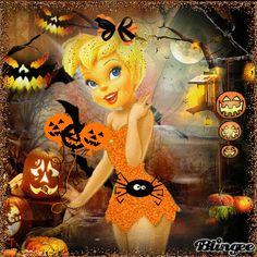 ¡Campanilla vestida para Halloween!