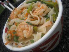 Asian Shrimp Noodle Salad