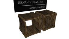 3D Model of Puff de madeira