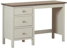 Devonshire Kenwith Painted Dressing Table - Single Pedestal