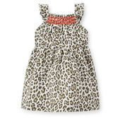 With ruffle straps and contrast smocking, she'll twirl with flair in this leopard print.<br>