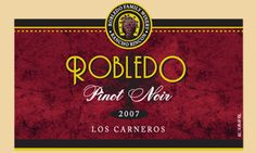 2007 Robledo Family Winery Pinot Noir, Los Carneros