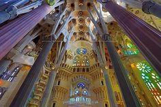 Basilica de la Sagrada Familia cathedral in Barcelona, Spain