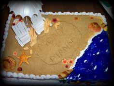 Beach Bridal Shower. Cute idea for a cake.