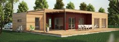 maison ossature bois moderne C80-91