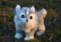 Poseable toy commission OC wolf cub by MalinaToys.deviantart.com on @DeviantArt