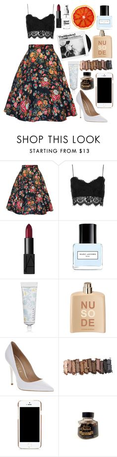 """OOTD #123; 5/27/16"" by annacrosby on Polyvore featuring Topshop, NARS Cosmetics, Marc Jacobs, Lollia, COSTUME NATIONAL, Office, Urban Decay, Moschino and Parker"