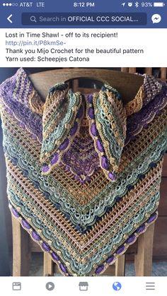 Crochet Cape, Crochet Shirt, Knit Or Crochet, Crochet Crafts, Crochet Stitches, Crochet Shawls And Wraps, Knitted Shawls, Crochet Scarves, Crochet Clothes