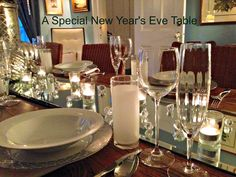 Decorating a beautiful table for New Year's Eve