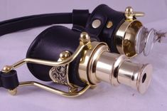 Steampunk Goggles Goth Theatrical Industrial Brass Telescope.